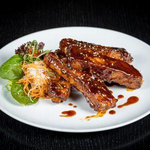 Iberico spare ribs with BBQ sauce